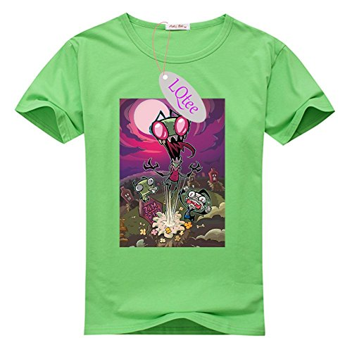 Popular Invader Zim Cotton T-shirts, Hot Sale Women's Classic Tee Shirts at LQtee
