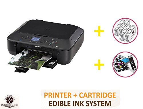 YummyInks Brand Deluxe Package: YummyInks Brand Canon MG5620 Bundled Printing System (includes Brand New Printe + Edible Ink Cartridges + Cleaning Cartridges) by Absolute (Image #1)
