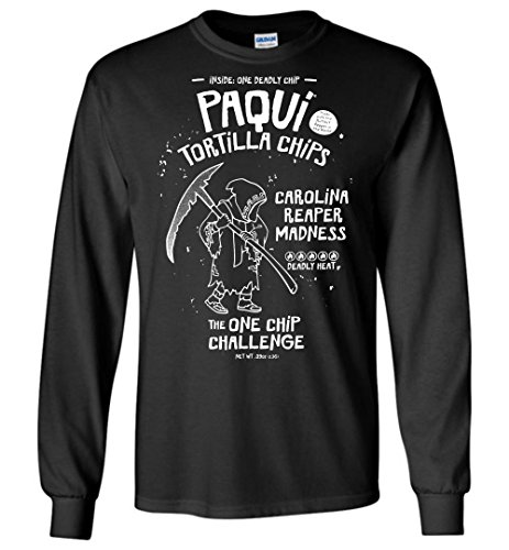 Paqui One Chip Challenge Long Sleeve Chip And Pepper Clothes
