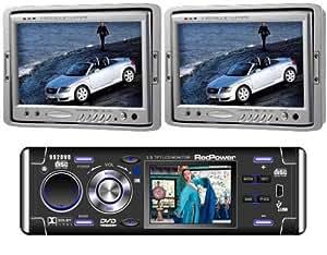 """motorizado 992dvd en Dash coche reproductor de DVD CD MP3MP4con 2.5TV & 2x JEJA M70reposacabezas de 7.0""""Widescreen LCD Monitor con entrada de vídeo de 3Vías y mando a distancia"""
