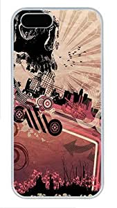 Abstract Skull City Custom Hard for For Ipod Touch 4 Phone Case Cover - Polycarbonate - White hongguo's case