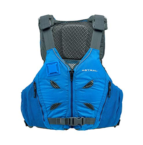 - Astral V-Eight Life Jacket PFD for Recreation, Fishing and Touring Kayaking, Ocean Blue, Medium/Large