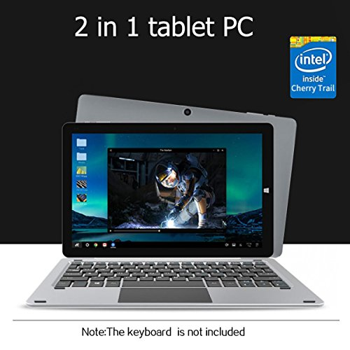 CHUWI Hi10 Pro 10.1″ 2 in 1 Ultrabook Dual OS Windows10 + Android5.1 Tablet PC Intel Cherry Trail X5-Z8350 64bit Quad Core 4GB RAM 64GB ROM with Dual Cameras WiFi Bluetooth HDMI OTG Type-C External 3G