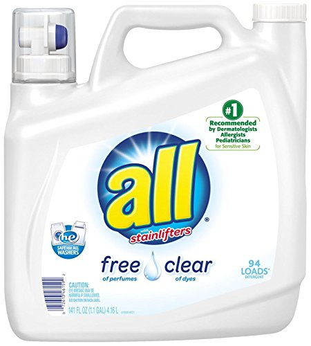 All Liquid Laundry Detergent  Stainlifters  Free   Clear   141 Oz
