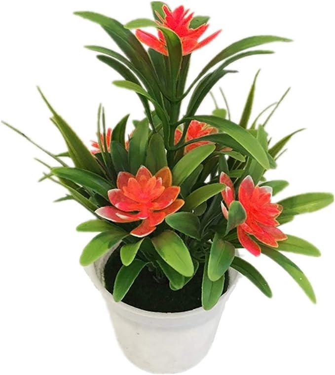 Artificial Lotus Leaf Flower Plants In Pot Fake Decors Office Ornaments Plastics