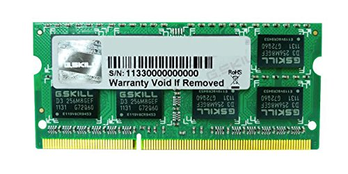 G.SKILL 4GB 204-Pin DDR3 SO-DIMM DDR3 1066 (PC3 8500) Laptop Memory Model F3-8500CL7S-4GBSQ, Color May Vary