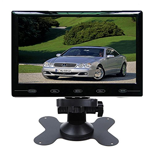 - SallyBest® 9'' Ultra Thin HD 800*480 TFT Color LCD Screen 2 Video Input Car Rear View Headrest Monitor DVD VCR Monitor with Remote Control and Touch Button