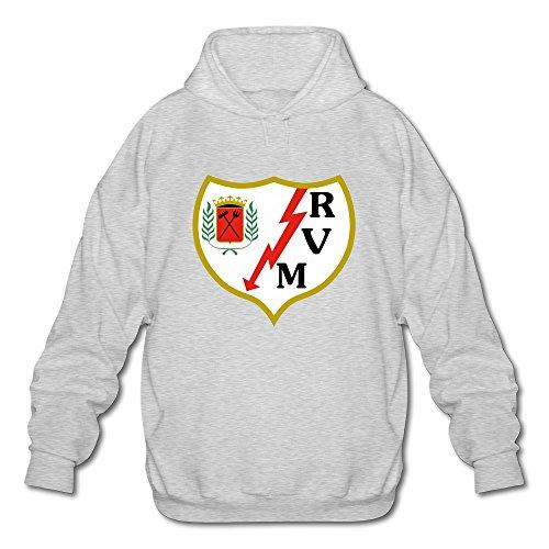 fan products of Men's Rayo Vallecano Logo Sport Hoodies Sweatshirt Ash Size L Design By Rahk