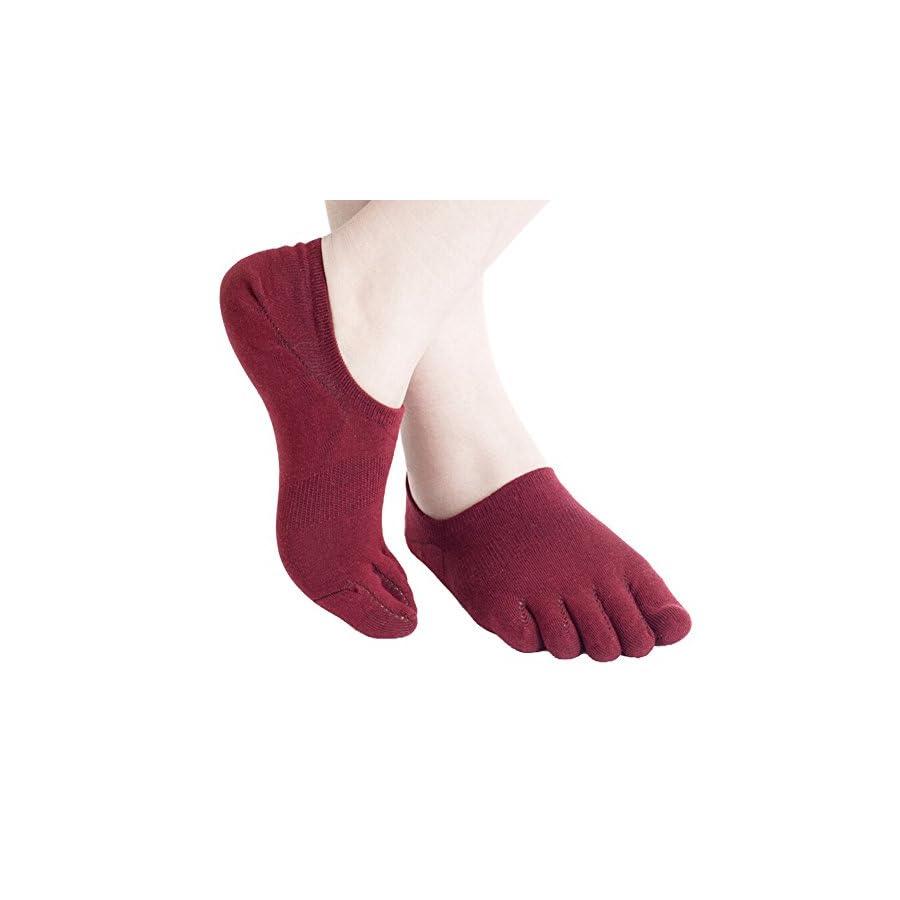 Fenta Men Five Toe Socks Invisible Sport Ankle Women Toe Socks Absorb Sweat Leisure by