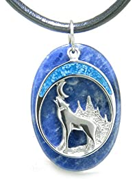 Howling Wolf Moon Amulet