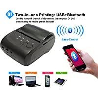 Portable Bluetooth Wireless Mobile Thermal Receipt Printer