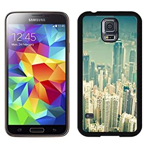 Fashionable Custom Designed Samsung Galaxy S5 I9600 G900a G900v G900p G900t G900w Phone Case With Hong Kong City Overview_Black Phone Case