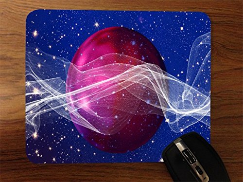 Sticker Skin Print Purple Ball Inspirational Waves Stars Printed Design   Desktop Office Silicone Mouse Pad By Smarter Designs