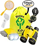 Adventure Kids - Educational Outdoor Children's Toys - Binoculars, Flashlight, Compass, Magnifying Glass, Butterfly Net & Backpack. Explorer Kit, Great Kidz Gift Set For Birthday, Camping & Hiking