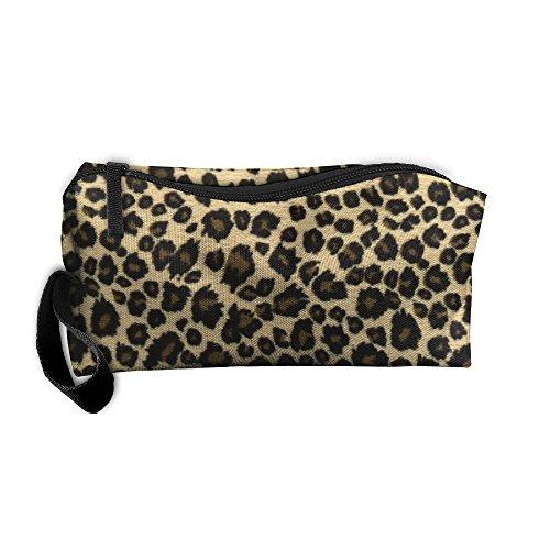 YangQxio Animal Leopard Print Design Portable Cosmetic Makeup Bag Waterproof Makeup Cosmetic Brush Organizer Zipper Organizer Travel Set Tote Bag -