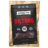 Ayoba-Yo Spicy Biltong. Tender Beef Snack. Better than Jerky. Paleo and Keto Friendly. High Protein Steak Cuts. Made with Premium Meat. No Carbs. Gluten & Sugar Free. 4 Ounce Larger Image