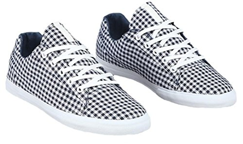 Plaid Assault de Zapatillas White SUPRA patín Navy pqY10TOH
