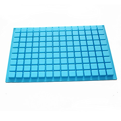 Candy Mold Soap - X-Haibei Small Square Ice Cube Jello Candy Chocolate Making Silicone Mold Soap Supplies 0.1oz/Cell