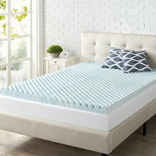Zinus 3 Inch Swirl Gel Memory Foam Air Flow Topper Queen