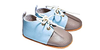 Ami Peluche Baby Shoes Baby Boy Shoes Toddler Infant Leather Shoes Soft Sole (6-