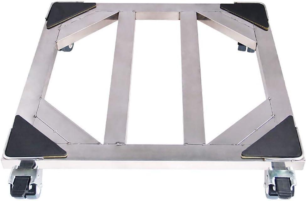 DYFYF Movable universal ajustable Base móvil for soporte congelador lavadora-secadora, con 4 Bloqueo de goma Ruedas giratorias anti vibraciones Silenciar la Cesta rodillo exterior Dolly Carro for lava: Amazon.es: Hogar