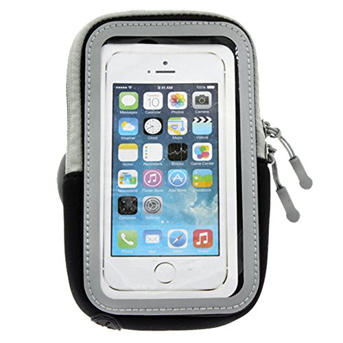 AOER Water Resistant Sports Armband with Touchscreen Protector Key Holder & Card Slot Wallet Case Cover 4.7-Inch for iPhone 5/5s/5c, Samsung S4, S3, S2, HTC One (Black) (S2 Sports Armband)