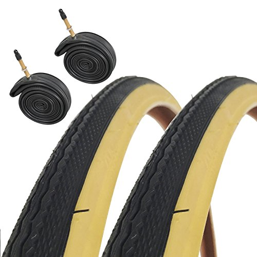 CST Raleigh T1240 Traditional 700 x 28c Road Bike Tires with Presta Tubes (Pair)