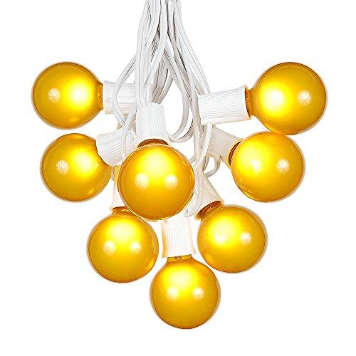 Patio String Lights Yellow Globe