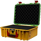 STR8Brand 17'' Weather Resistant, Smellproof, Lockable, Glass Protector, Outdoor Carrying Case for Multi-Purpose with Pluck Foam (Roaring Rasta Green TOP) - STR8 Brand