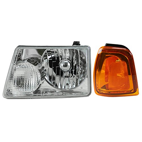 Headlight & Parking Corner Light Left Driver Side Kit for 01-05 Ford Ranger