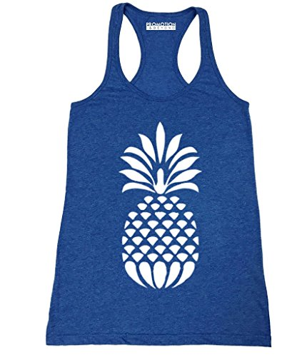P&B White Pineapple Women's Tank Top, M, H. - Top Pineapple Tank Womens