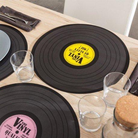 Placemats/Place Mats ~ Set of 4 Colours ~ Nostalgic/Retro ~ VINYL RECORD Design