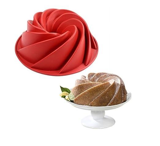 SWEET CANDY BAKERY Tarta Molde para Espiral Molde para Pastel de ...