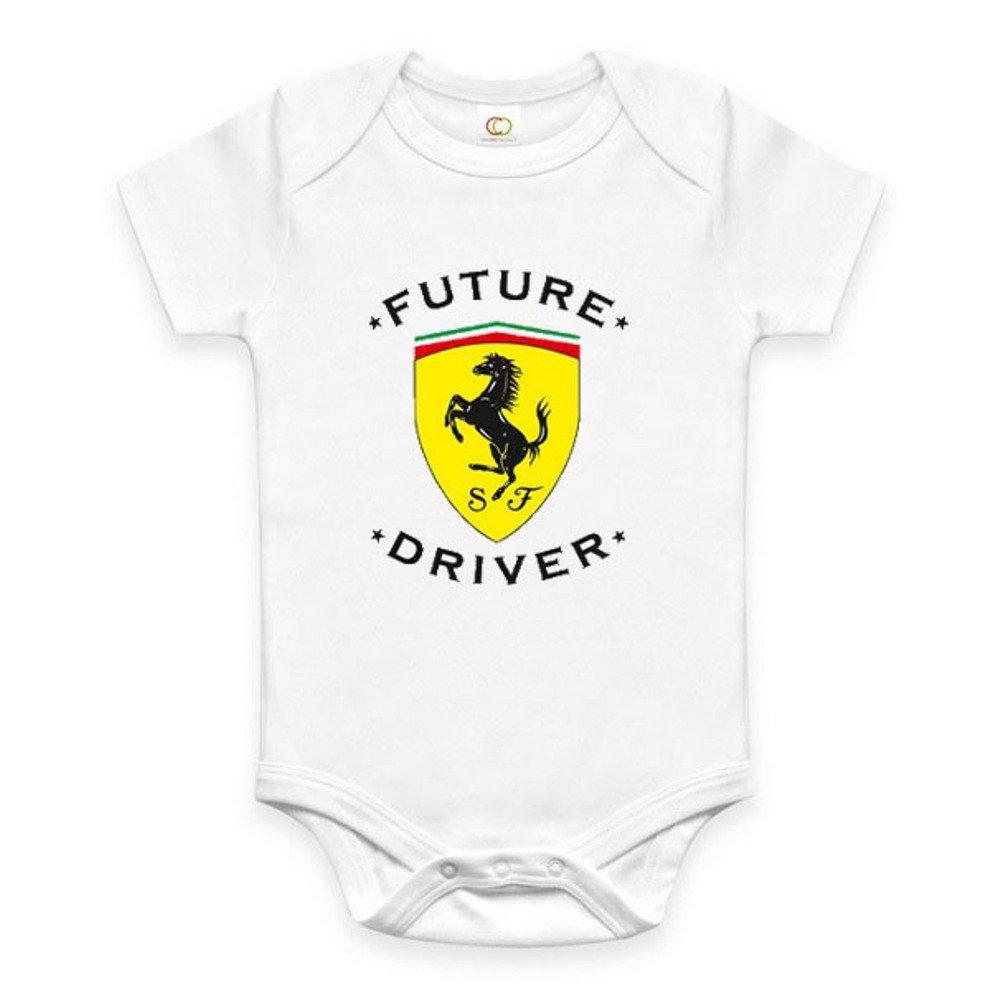 Bespoke Souvenirs Rare New Future Ferrari Driver Auto Baby Funny Bodysuit Onesie Romper