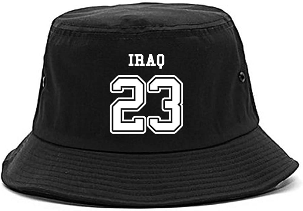 Country of Iraq 23 Team Sport Style Jersey Bucket Hat