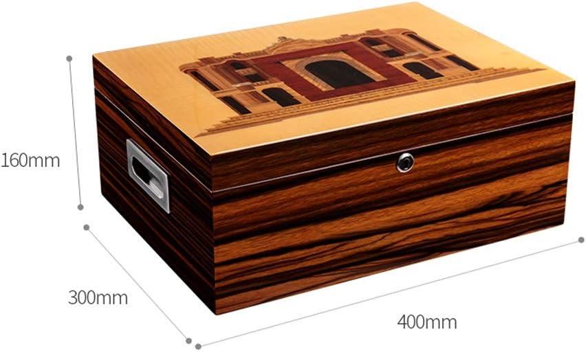 Caja de cigarros, Caja de cigarros Piano Pintura Gran Capacidad Doble Zona Madera de Cedro cigarro humidor (Color : A): Amazon.es: Hogar