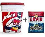 David Sunflower Seeds Bucket (1.75 oz., 60 ct.) + GIFT David Jumbo Sunflower Seeds (5.25 oz., 1 ct.)