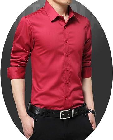 SBL Camisa de Manga Larga para Hombres, Camisa Casual de ...