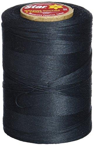 Star Thread V37-002 3-Ply 30wt T-35 Cotton Quilting & Craft Thread, 1200 yd, Black ()