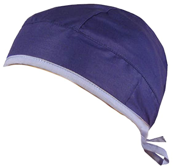 ad0181f0a84 Medical Skull Cap - Royal Blue W Sky Blue Ties at Amazon Women s ...
