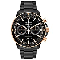 Deals on BULOVA Marine Star Chronograph Black Dial Mens Watch