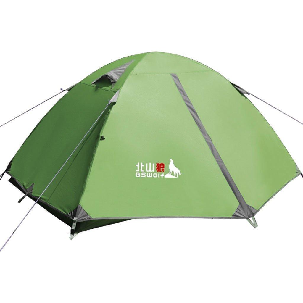 Multiplayer wetterfeste Outdoor-Zelt Outdoor-Zelt Aluminiumpfosten Doppelstock Paar Zeltkampieren