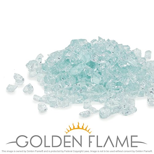 Golden Flame 10-Pound Fire Glass 1/2-Inch Arctic Ice