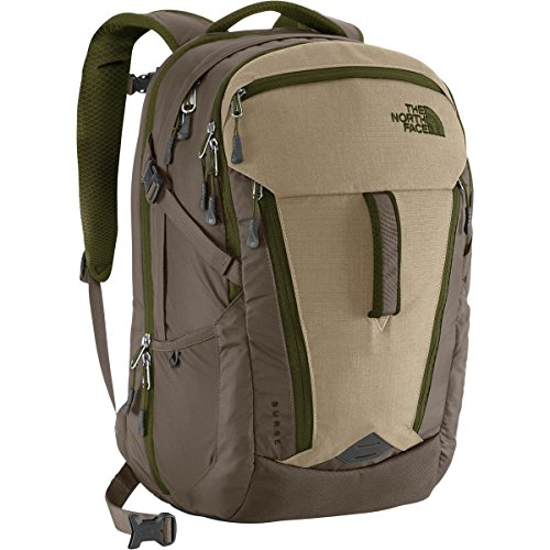 the-north-face-unisex-surge-dune-beige-forest-night-green-backpack