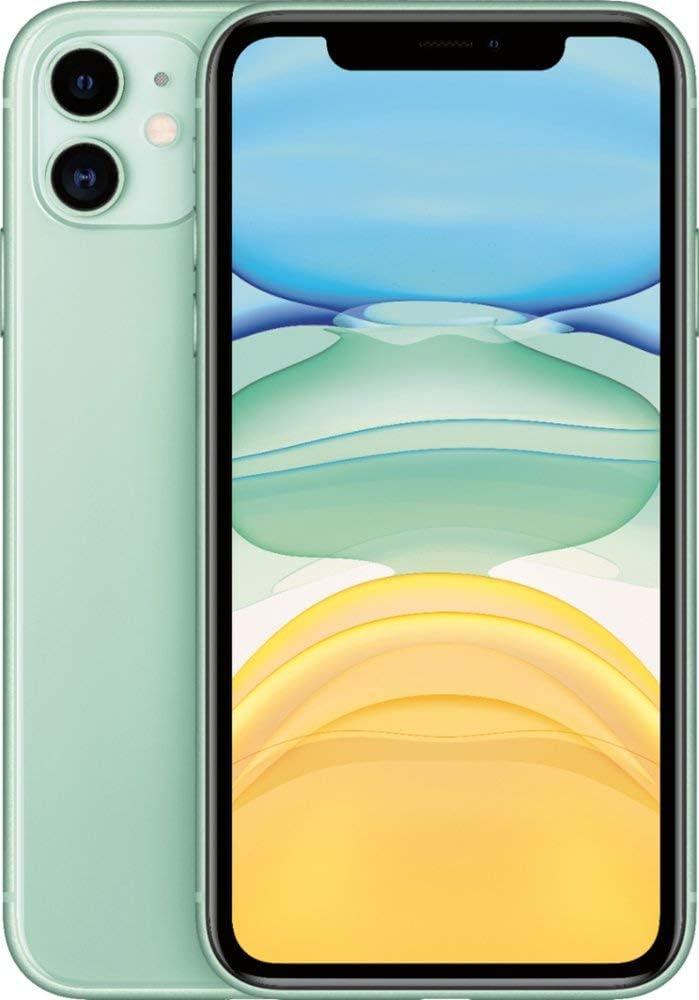 Apple iPhone 11, 64GB, Unlocked - Green (Renewed)