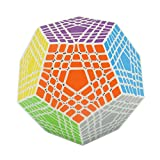 HJXD globle Megaminx Magic Cube 7x7 Dodecahedron Puzzle Cube Toys for Kids White