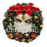 Christmas Wreaths Door Decorations Christmas Crafts Hotel Window Ornaments (30CM(11.8inch))
