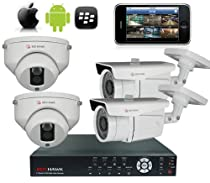 Red Hawk- This is a 2 Dome & 2 Bullet Camera 4 Channel DVR System