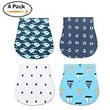 Baby Bandana Drool Bibs – 8 Pack Baby Drool Bib Set For Drooling and Teething (4x)