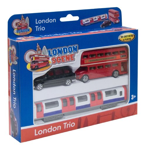 Richmond Toys, Motormax Best of British Street Scenes London Trio Die-Cast Gift Set